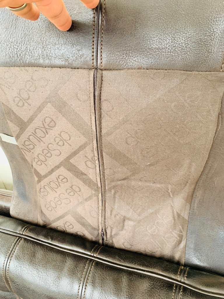 3-Seat Leather Sofa by De Sede, Switzerland For Sale 3