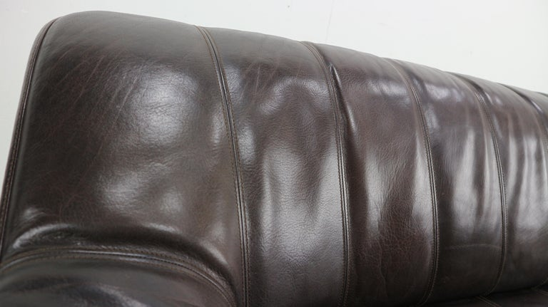 3-Seat Leather Sofa DS-44 from De Sede, 1970s For Sale 4