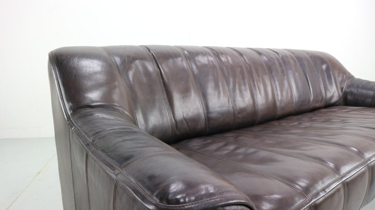 3-Seat Leather Sofa DS-44 from De Sede, 1970s For Sale 5
