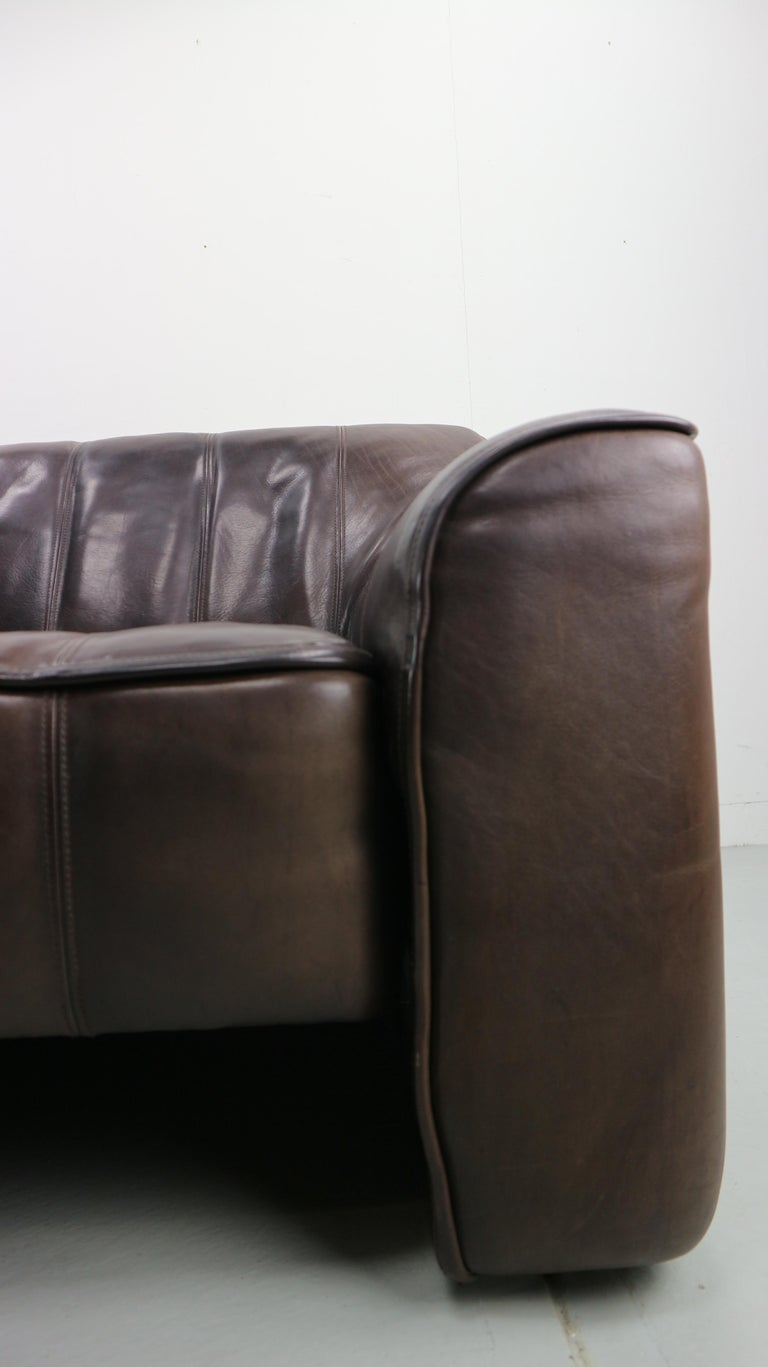 3-Seat Leather Sofa DS-44 from De Sede, 1970s For Sale 6