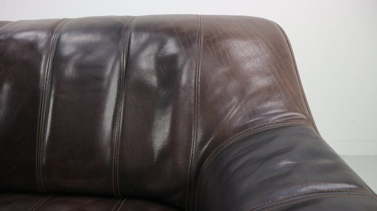 3-Seat Leather Sofa DS-44 from De Sede, 1970s For Sale 7