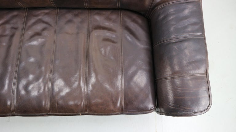 3-Seat Leather Sofa DS-44 from De Sede, 1970s For Sale 8