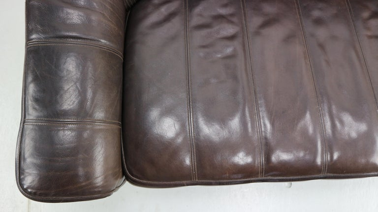 3-Seat Leather Sofa DS-44 from De Sede, 1970s For Sale 9