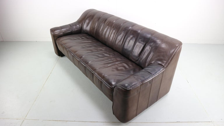 Late 20th Century 3-Seat Leather Sofa DS-44 from De Sede, 1970s For Sale