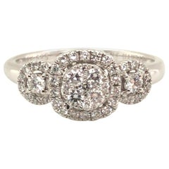 3-Section Diamond Fashion Ring