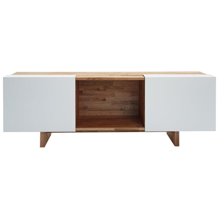 3X Shelf with Base Solid English Walnut LAXseries by MASHstudios For Sale