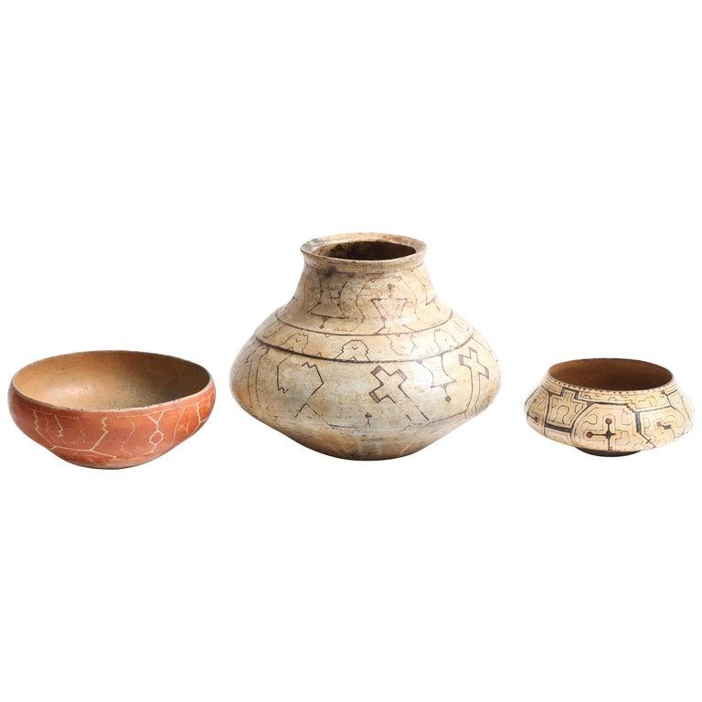 3 Shipibo-Conibo Vessels For Sale