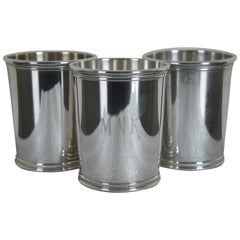 3 Sterling Silver Mark J Scearce Presidential Mint Julep Cups Richard Nixon RMN
