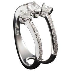 3-Stone Diamond Fashion Ring in 18 Karat Gold