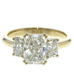 3-Stone Radiant Diamond Engagement Ring