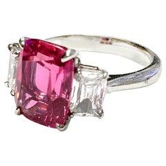 Goshwara 3-Stone Spinel And Diamond Ring