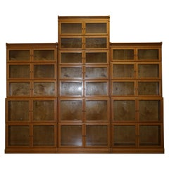 3 Stunning Very Rare 1900 Minty Oxford Library Stacking Bookcases Globe Wernicke
