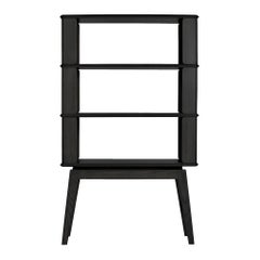 3-Tier Bookshelf/Storage, Ashwood with Black Stain by Debra Folz