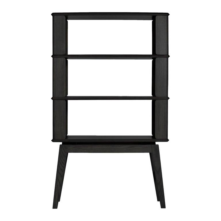 3-Tier Bookshelf/Storage, Ashwood with Black Stain by Debra Folz For Sale