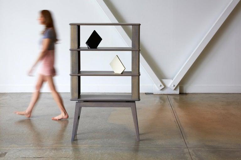 Other 3-Tier Bookshelf/Storage - Ash Wood with Gray Stain by Debra Folz For Sale