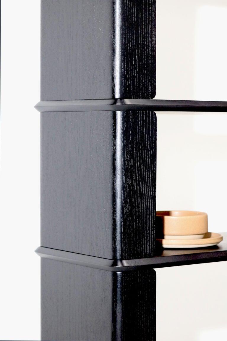 Other 3-Tier Bookshelf/Storage, Ashwood with Black Stain by Debra Folz For Sale