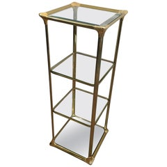 3 Tiers Hollywood Regency Gilt Shelves, French, circa 1970