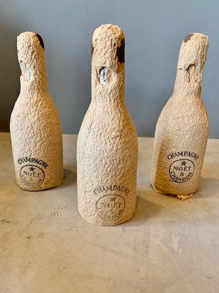 3 Unopened Bottles of Dom Perignon, 1952 and 1955 In Excellent Condition For Sale In Los Angeles, CA