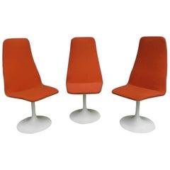 3 Vintage Swivel Tulip Chairs
