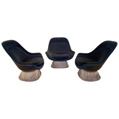 3 Warren Platner for Knoll 18-Karat Gold-Plated Easy Chairs