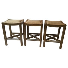 3 Wood Counter Stools by Lee Industries