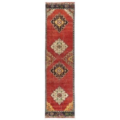 Antique Oushak Runner, Unusual Wool Hand Knotted Rug