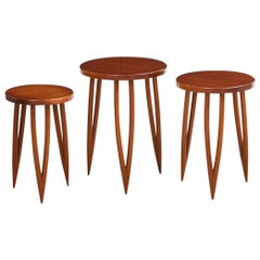"""3 X 3"" Contemporary Nesting Tables by Donzella Ltd."