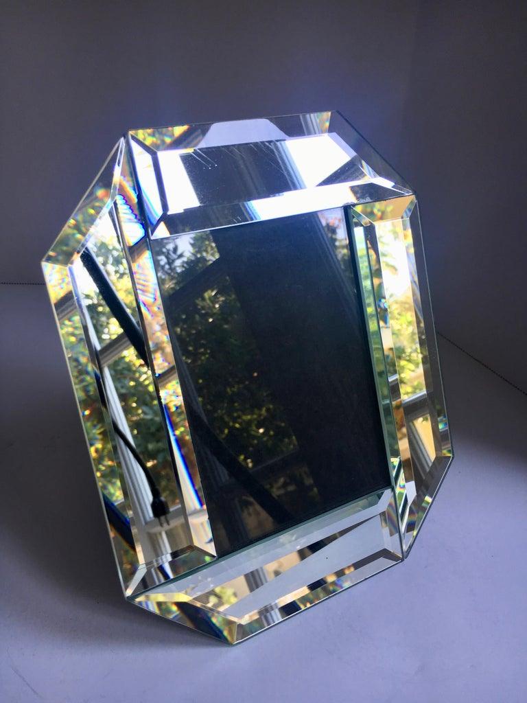 Modern 3 x 5 Beveled Mirror Picture Frame