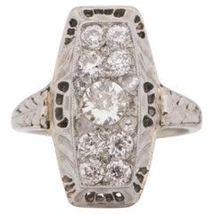 .30 Carat Art Deco Diamond 14 Karat White Gold Engagement Ring