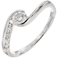 .30 Carat Diamond Swirl Platinum Engagement Ring