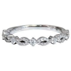 .30 Carat Natural Diamonds Accent Band 14 Karat Flat Profile