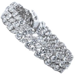 30 Carat of Diamonds Platinum Bracelet