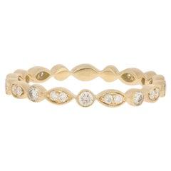 .30 Carat Round Brilliant Diamond Band, 14 Karat Gold Ring