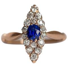 .30 Carat Sapphire Yellow Gold Ring