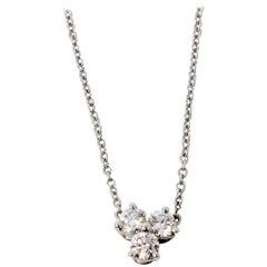 .30 Carat Tiffany & Co. Diamond and Platinum Aria Three-Stone Pendant Necklace