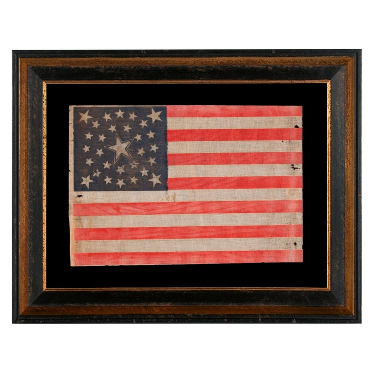 30 Star Flag, Pre-Civil War Ear, Haloed Center Star, Wisconsin Statehood For Sale