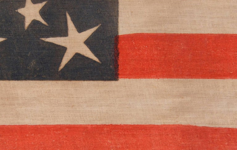 19th Century 30 Stars on an Antique American Flag of the Pre-Civil War Era For Sale