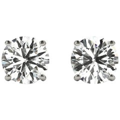 3.0 Total Carat Weight Apprx Diamond Earring Studs White Gold, Ben Dannie