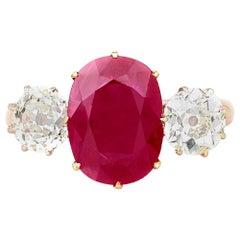 3.00 Burma Ruby and Diamond Ring