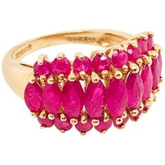 3.00 Carat '3 Carat' Genuine Ruby Ring, Custom Ladies Ruby Ring in Yellow Gold