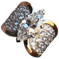 3.00 Carat Approximate Maruise Diamond Engagement Ring, Ben Dannie