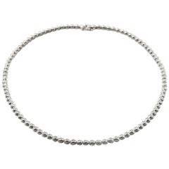 3.00 Carat Diamond 18 Karat White Gold In-Line Bezel Set Necklace