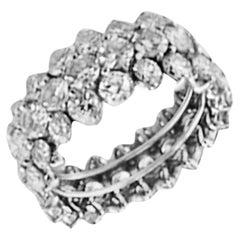 3.00 Carat Diamond Band 3-Row White Gold Ring
