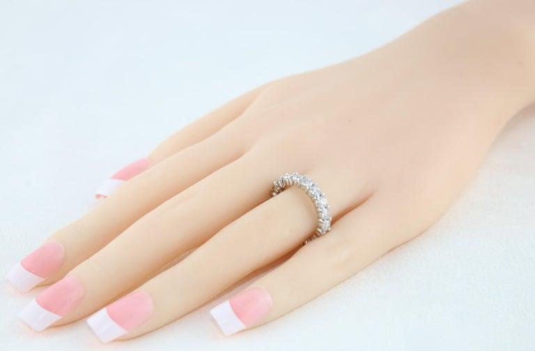 Women's 3.00 Carat Diamond Eternity Gold Ring For Sale