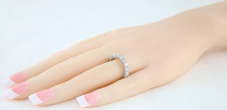 3.00 Carat Diamond Eternity Gold Ring For Sale 1