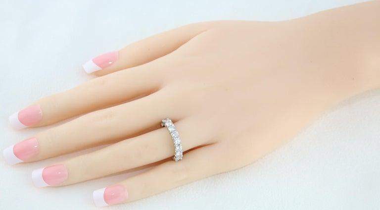 3.00 Carat Diamond Eternity Gold Ring For Sale 2
