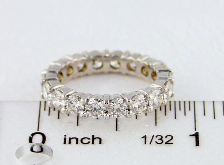 3.00 Carat Diamond Eternity Gold Ring For Sale 3