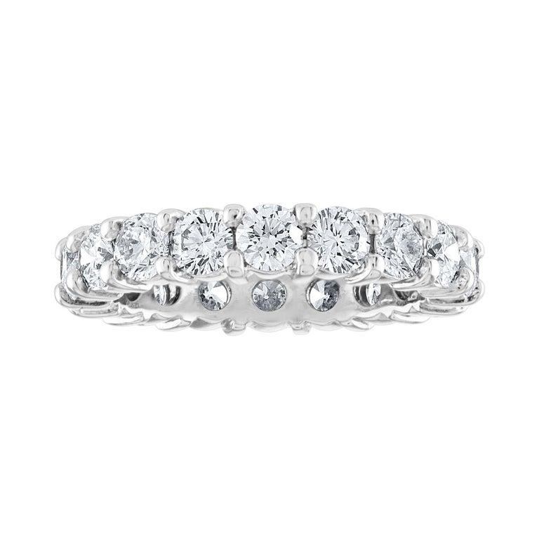 3.00 Carat Diamond Eternity Gold Ring For Sale
