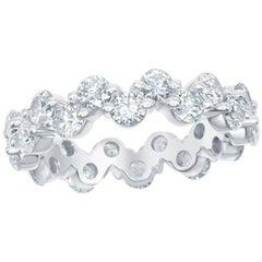 3.00 Carat Diamond Eternity Zig-Zag Ring 14K