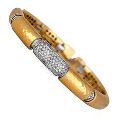 3.00 Carat Diamond Pave Bracelet VS Yellow Gold 18 Karat